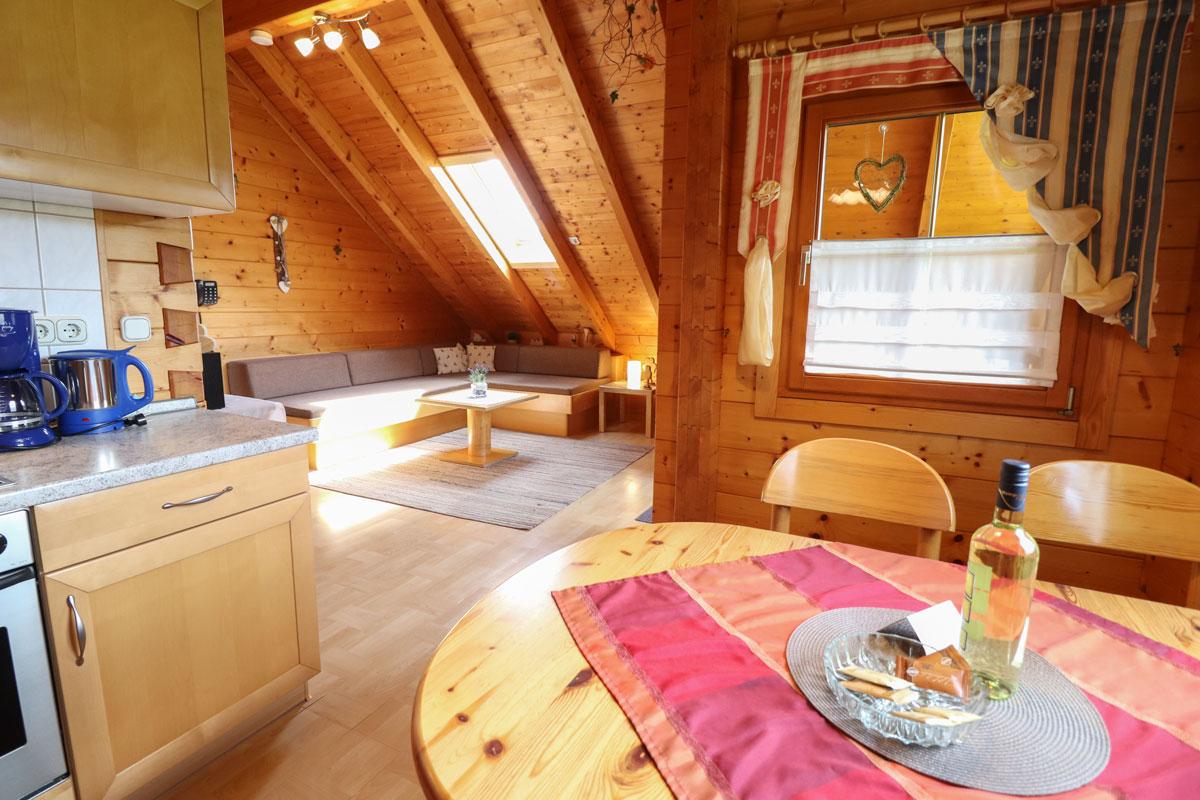 Ferienwohnung Anika im Blockhäuserl in der Fränkischen Schweiz