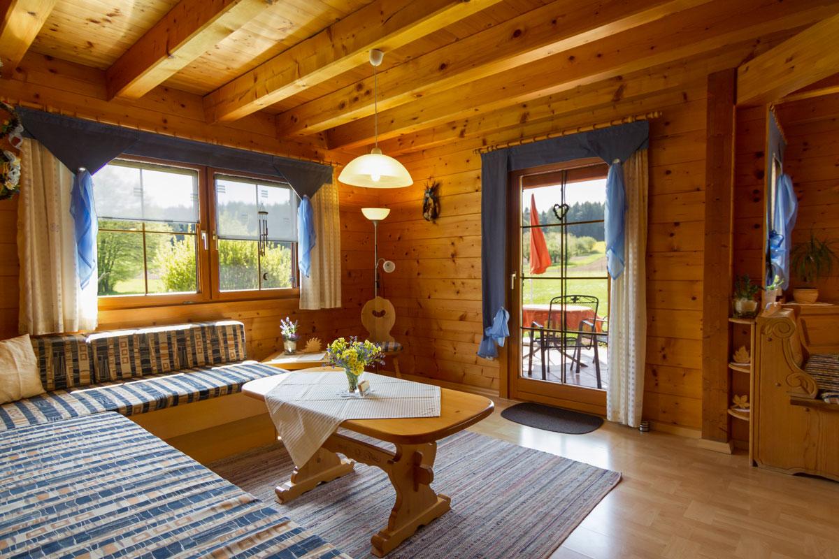 Ferienwohnung Stefanie im Blockhäuserl in der Fränkischen Schweiz